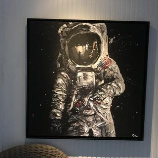 Paul Oz painting of Buzz Aldrin