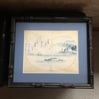 Old Japanese painting on paper.