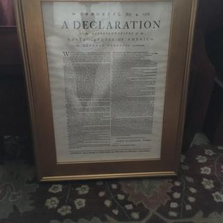 Bought this frame to compliment a reproduction printing of the Declaration of Independence.