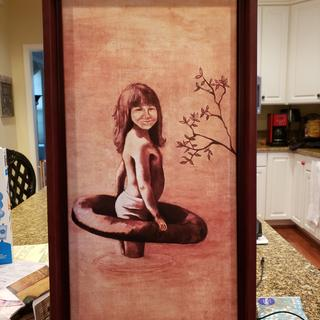 Loved this cherry floater! It was perfect for my painting of my sister from 1977.
