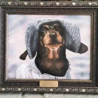 Perfect frame to compliment this portrait of Lacey that I painted! Patti