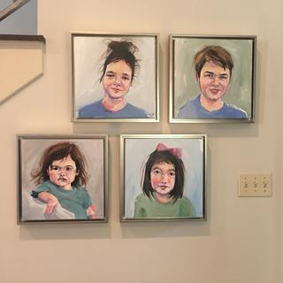 Beautiful paintings of my grandchildren framed!!