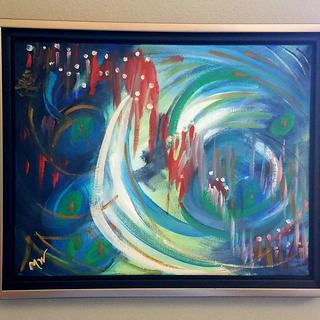 Procession original oil painting by Melissa Wadsworth