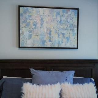 "Title ""Artic"" framed in Walnut Floater by artist Ken Di Guglielmo,"