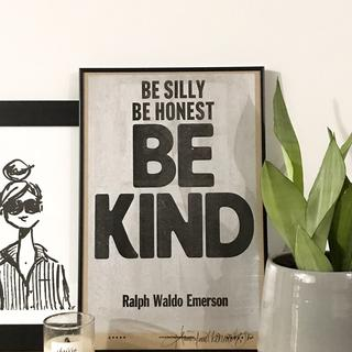 Such a great frame for bold, letterpress prints. Love it!!