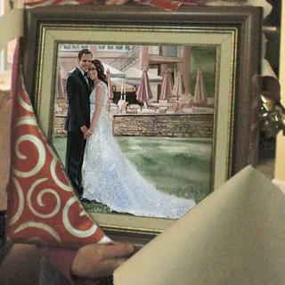 Wedding Painting Christmas gift.