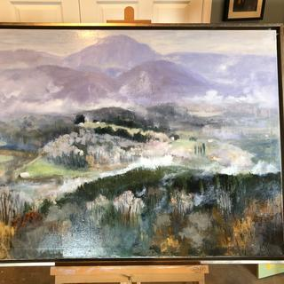 "Spring view of the Valley 30""x40"""