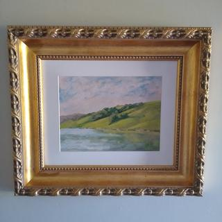 Tomales Bay, Ca .painting by Jeb Harrison.