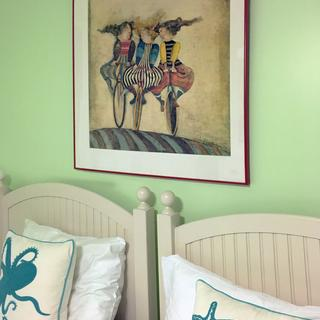 """Vintage French Poster in 36"""" x 36"""" 111 Red Metal Section Frame"""