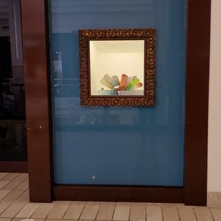 Used this frame to surround an illuminated showcase for a retail project.