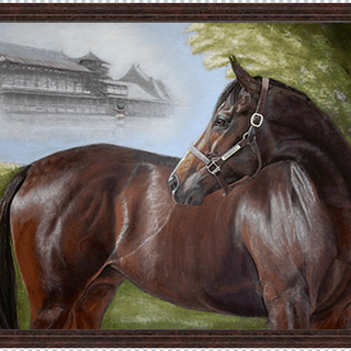 """Songbird Looks Back,"" 28x39 Pastel Original by Sue Ziegler."