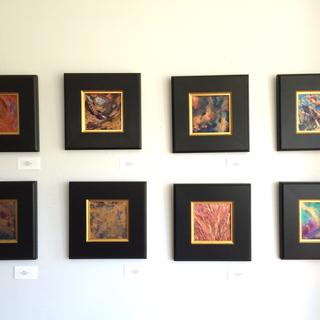 Exhibit of artwork in Concerto Frames Mixed Media Paintings by Susan Medyn