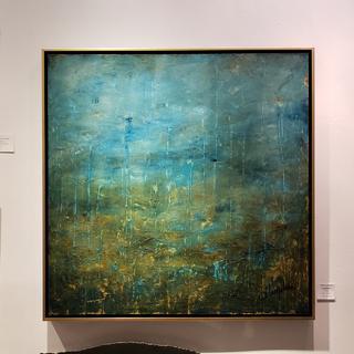 Original acrylic  36x36. SUBMERGENCE.  Ariodante gallery. New Orleans by David Lumpkin