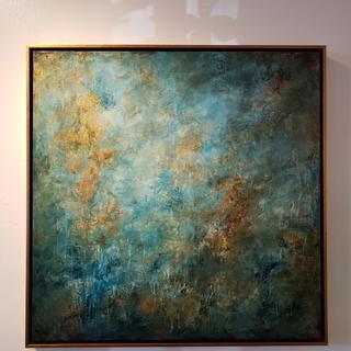 Original acrylic 36x36. Radiance. Ariodante gallery New Orleans by David Lumpkin .