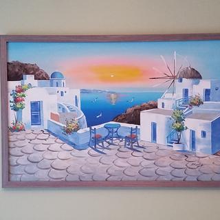 Santorini 36x24