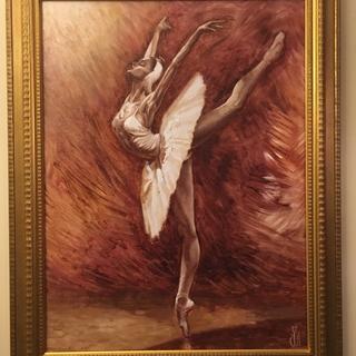 En Ponte Ballet Dancer  painting