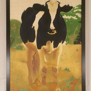 "SP2 Black Frame 24x36 Acrylic on canvas over 3/4"" stretcher bars ""Contemporary Bovine"""