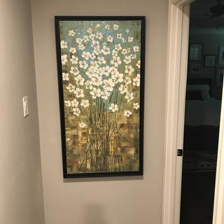 """Perfect frame, even for this painting of 1"""" depth."""
