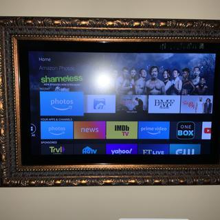 Made a nice frame for a tv.