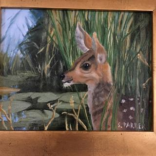 """Little Fella"" painted from a photograph taken in Durango, CO."