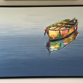 This 60 x 36 big canvas looks great framed up in the floating frame.
