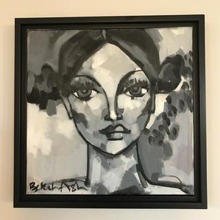 Even a small 12x12 piece of art shines when framed in the floating frame.