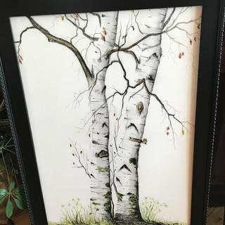 "Perfect frame for my painting, ""White Birch"" - Mary Tuomi Art"