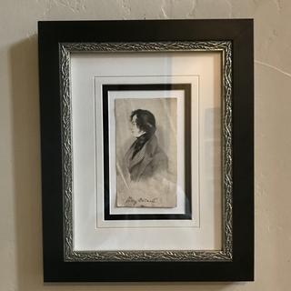 Beautiful, high quality frame for this antique, signed lithograph.