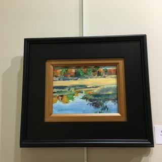 See the red dot on the art label? Sold my painting!!! in the art show. Lori McElrath Eslick
