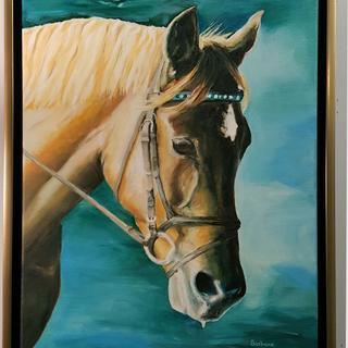 My husband's horse Rosie.