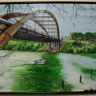 The Pennybacker Bridge to Austin, Texas.