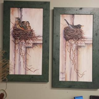 Love the frames for my recently finished robin paintings!!