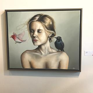 """Blackbird"", oil on canvas, 24""x30"" by John Ulrich"