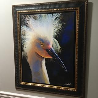 Can not say enough about how great this frame works with the painting.