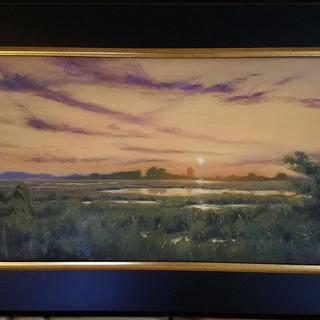 """12""""x24"""" oil on canvas """"Tidewater Sunset 002"""""""