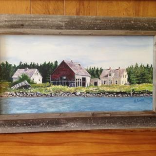 Authentic and well made.  Perfect for a picture of old houses and a barn on a Canadian island!