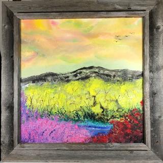 Santa Fe Summer Cliffs   Oil on Canvas Mary Linda Mills (Provosty)