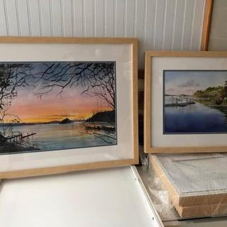 Two of the maple gallery style frames that I ordered.