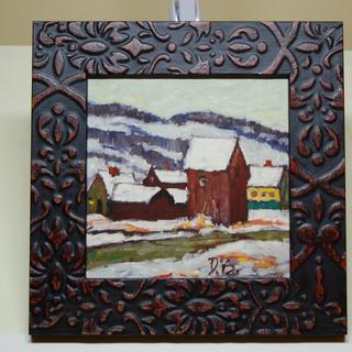 6x6 oil pastel on panel