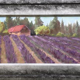 Love the frame with my Plein Air painting of a Lavender farm.