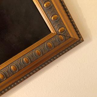 Good quality frame; darker than it looks online.