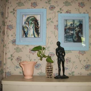 The 'hydrangea' frames were perfect for these prints of original paintings by my granddaughter!