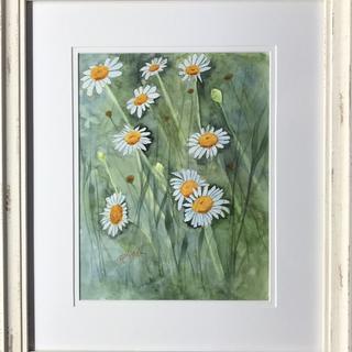 'Upsy Daisy' 13.5x16 watercolor