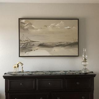 "This is a 30 x 48 inch floater. The painting is entitled ""Diamonds In the Sand"""