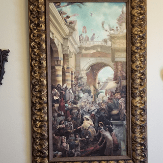 "The ""Triumphal Entry,"" limited edition print, now majestically framed! Thanks!"