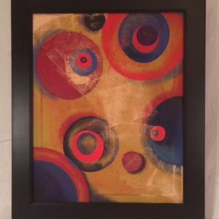 """oil on canvas over 5/8"""" stretcher bars 16 x 20 1920's Orphism painting"""