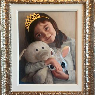 "Odette with Piggy 16""x20"""