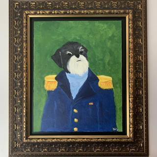 Regal frame for a regal dog portrait