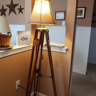 We love our new lampshade on our newly acquired floor lamp!