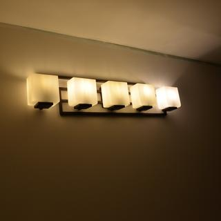 We need the cove molding and mirror.I love.You  do need to have ALL the same bulbs, as you can tell.
